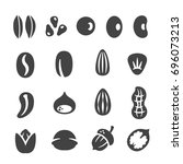 grain  nut  seed icon set | Shutterstock .eps vector #696073213