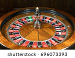 american roulette wheel with a...   Shutterstock . vector #696073393