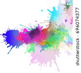 abstract colourful illustrated... | Shutterstock . vector #696074377