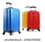 travel suitcases isolated on... | Shutterstock . vector #696078583