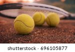 tennis game. tennis ball with... | Shutterstock . vector #696105877