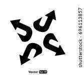 arrow vector arch   Shutterstock .eps vector #696113857