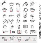 Kitchen Icons For Cooking...