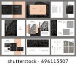 design photography portfolio ... | Shutterstock .eps vector #696115507