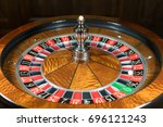 american roulette wheel with a...   Shutterstock . vector #696121243