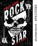 hard rock music poster | Shutterstock .eps vector #696125383