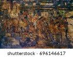 ajanta caves paintings ...   Shutterstock . vector #696146617
