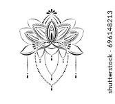 outline pattern. mandala....   Shutterstock .eps vector #696148213