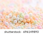 colorful foam ball isolated in... | Shutterstock . vector #696149893