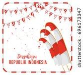poster or banner indonesian...   Shutterstock .eps vector #696173347
