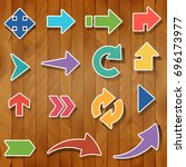 colorful arrow collection set...   Shutterstock .eps vector #696173977