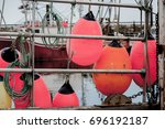 large balloon buoys hanging on... | Shutterstock . vector #696192187