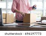business start up sme concept....   Shutterstock . vector #696197773