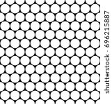 seamless monochrome hexagonal... | Shutterstock .eps vector #696215887