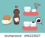 decayed tooth   crown process... | Shutterstock .eps vector #696223027
