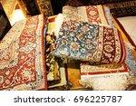 persian carpets or iranian...   Shutterstock . vector #696225787