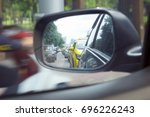 Reflection Of A Traffic Jam In...