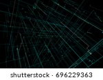 3d illustration abstract space... | Shutterstock . vector #696229363