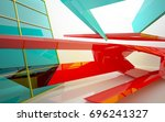 abstract architectural interior ... | Shutterstock . vector #696241327