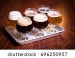 close up perspective craft beer ...   Shutterstock . vector #696250957