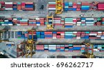 container ship in import export ...   Shutterstock . vector #696262717