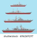 vector flat missile cruiser ...   Shutterstock .eps vector #696269197