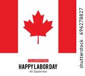canada labor day. happy labor... | Shutterstock .eps vector #696278827