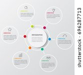 infographic gray background... | Shutterstock .eps vector #696287713