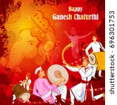 lord ganpati in vector for... | Shutterstock .eps vector #696301753