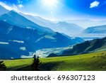 mountains in china | Shutterstock . vector #696307123