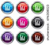 upside growing arrows set icon...   Shutterstock .eps vector #696308023