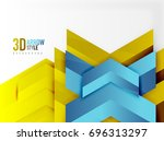 techno arrow background  vector ...   Shutterstock .eps vector #696313297