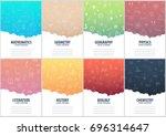 set of banners school notebook... | Shutterstock .eps vector #696314647