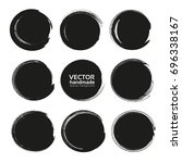 abstract black round... | Shutterstock .eps vector #696338167