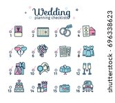 template design wedding... | Shutterstock .eps vector #696338623