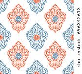 vector ornamental ethnic art ... | Shutterstock .eps vector #696342613