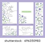 wedding invitation card... | Shutterstock .eps vector #696350983