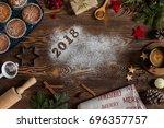 ingredients for cooking... | Shutterstock . vector #696357757