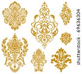 set of ornate vector ornaments. ... | Shutterstock .eps vector #69636304