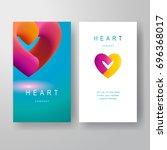 set of two vector vertical... | Shutterstock .eps vector #696368017