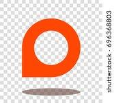 pin icon   marker icon  ...   Shutterstock .eps vector #696368803