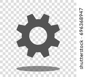 cogwheel gear settings icon... | Shutterstock .eps vector #696368947