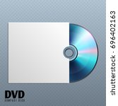 dvd cd disk with white empty... | Shutterstock . vector #696402163