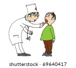 boy visiting the doctor for... | Shutterstock . vector #69640417