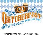 oktoberfest beer music food... | Shutterstock .eps vector #696404203