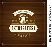oktoberfest beer festival... | Shutterstock .eps vector #696421987