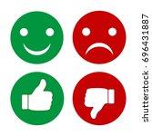 finger pointer and smileys of... | Shutterstock .eps vector #696431887