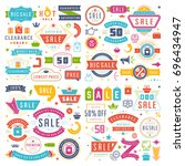 sale badges and tags design... | Shutterstock .eps vector #696434947