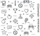 set video game entertaining... | Shutterstock .eps vector #696444313
