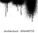 vector dripping paint.paint... | Shutterstock .eps vector #696448753